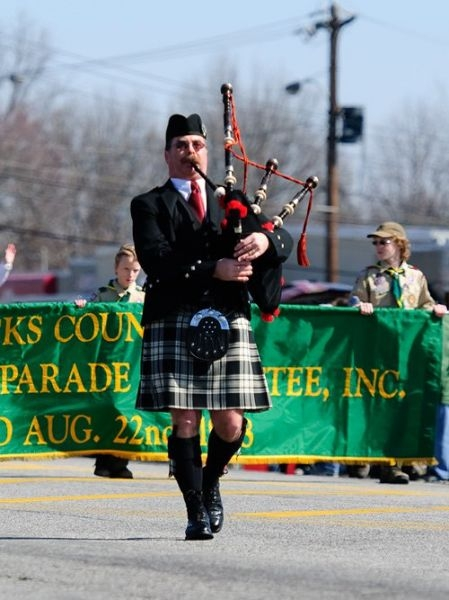I lead the 2012 Bucks County Irish Parade.