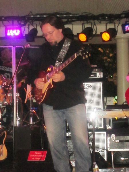 July, 2014 - Foxwoods gig. Brian playing guitar with Country Artist, Frankie Justin Lamprey. Check out Frankie's Facebook page.