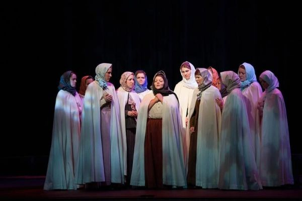 I am in the center playing Madame Lidoine in Dialogues of the Carmelites by Poulenc.