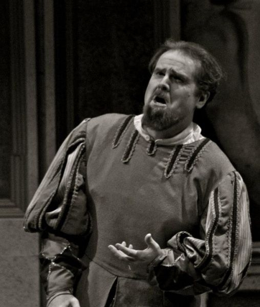 "As the title character in Verdi's ""Rigoletto"" with Rimrock Opera in Billings, Montana."