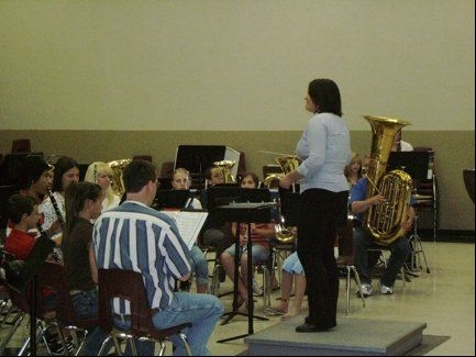 Conducting Cedar Middle School Bands 2008