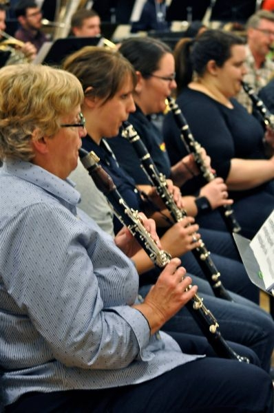 playing clarinet with SFWE