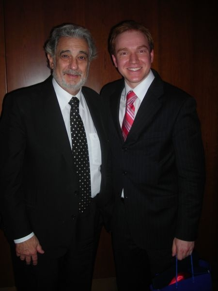 With Placido Domingo at The Juilliard School (2008)