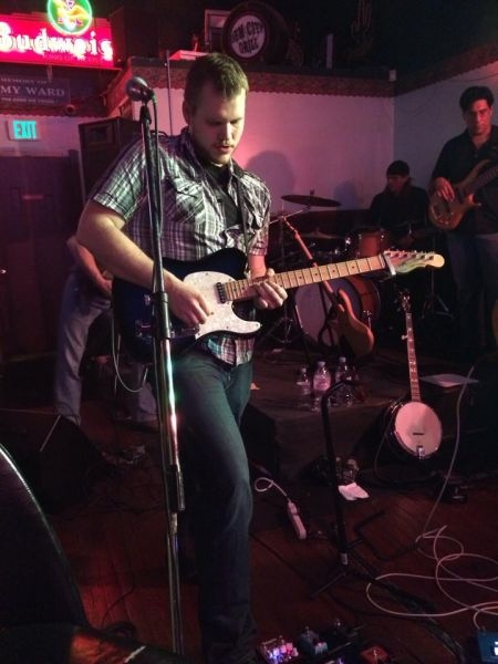 Playing live with my Country band, Five Mile Drive.