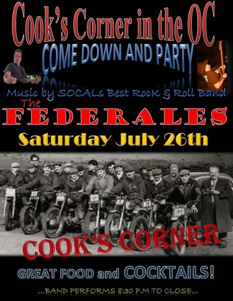 One of the posters my band The FEDERALES use to promote!