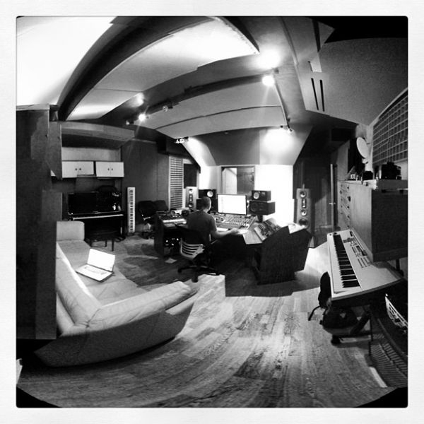 Mixing in the A room at the studio