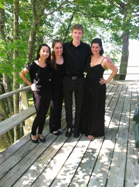 Mendelssohn String Quartet performance at Madeline Island Chamber Music Festival, Wisconsin 2014