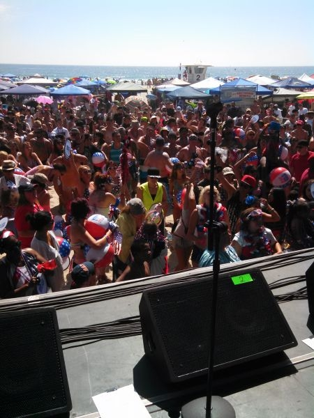 Performance at Camp Pendleton's 4th of July Beach Bash.