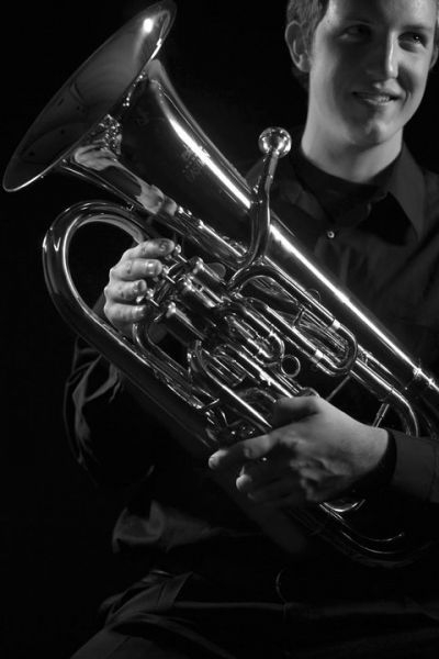 Photo shoot for Eastman Winds Instrument Catalog, 2012.