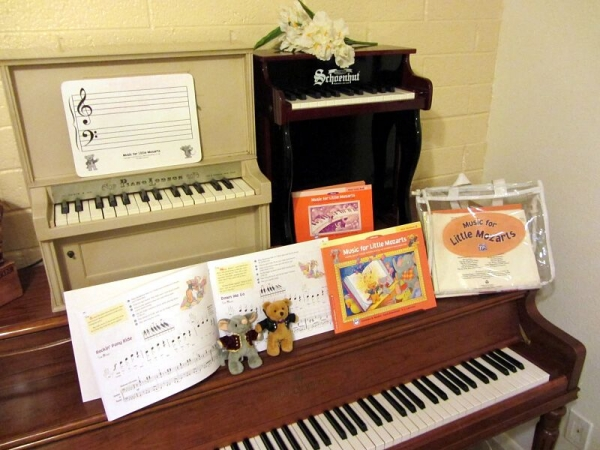 The Music for Little Mozarts series is great for students ages 4-6!