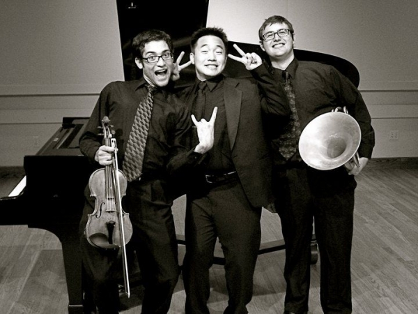 """Watchorn Trio, a Redlands Chamber Society """"Upcoming Artists"""" award winning horn, violin and piano trio I founded at Redlands"""