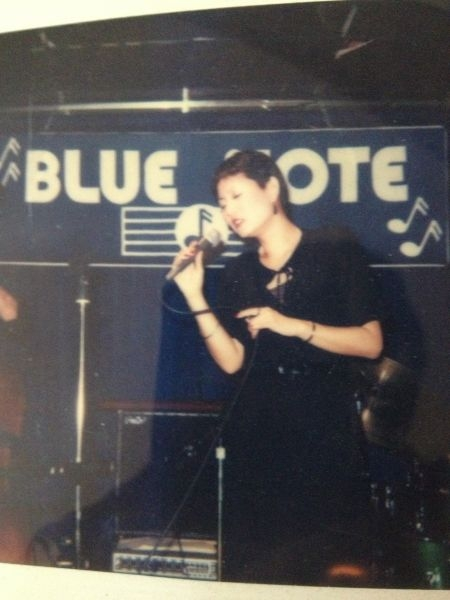 Singing at the Blue Note Jazz Club, NYC