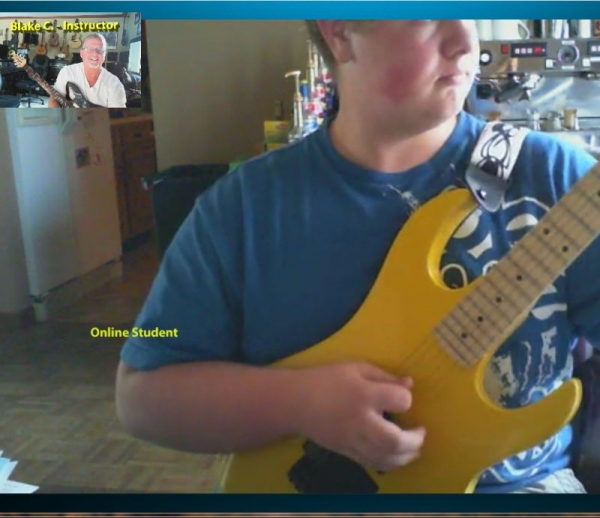 One of my terrific online guitar students.