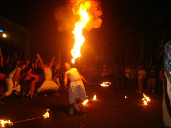fire show back in the Dominican Republic