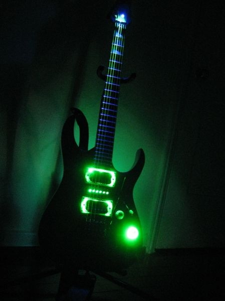 Guitar with the lights on