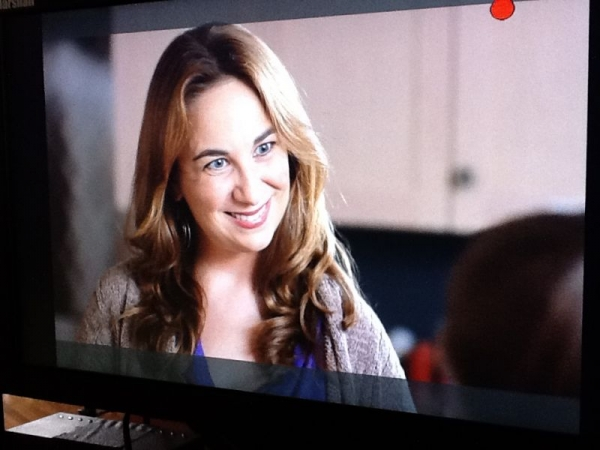 Playing a mom in a back to school commercial that aired on CMT.