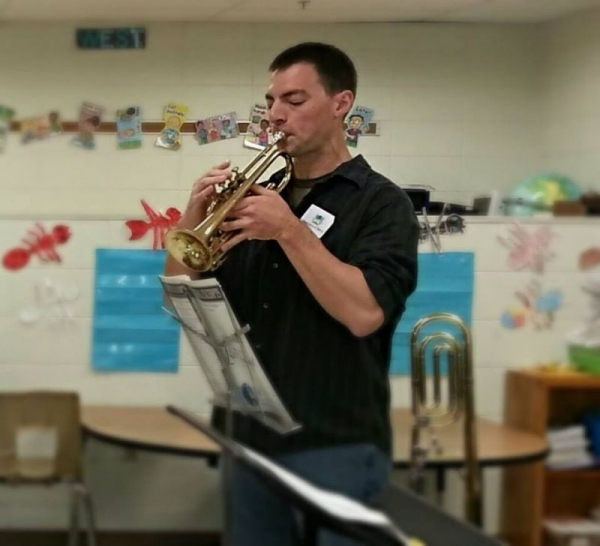 This was from a group presentation on musical instruments at a local elementary school