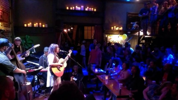 Performing at Witzend, Venice CA.
