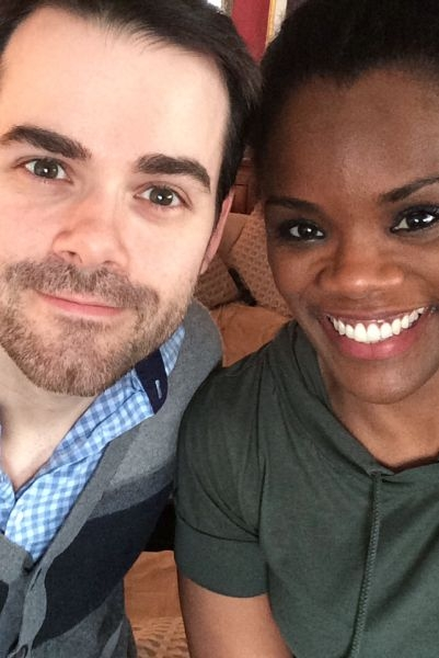 Sean with Broadway Actress and Acting Coach Rosalyn Coleman Williams