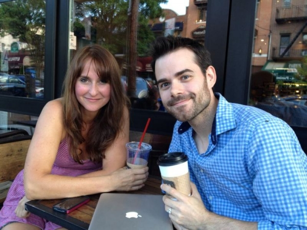 Sean with Actor - Writer - Comedian Leanne Linsky.