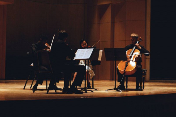 Beethoven String Quartet Op.18 No. 4 at Green Mountain Chamber Music Festival, Vermont 2013  Photo by Adam Solsburg