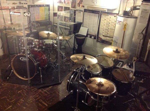 Teaching studio with (2) drum sets