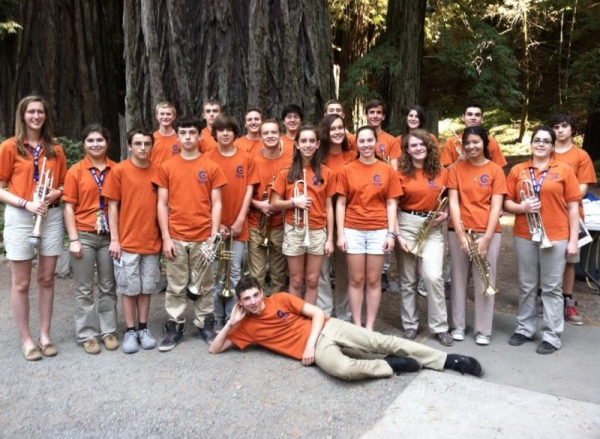 Working with the High School session at Cazadero Music Camp!