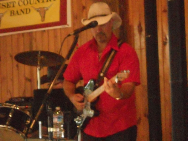 With Sunset Country Band at the Medina Fair