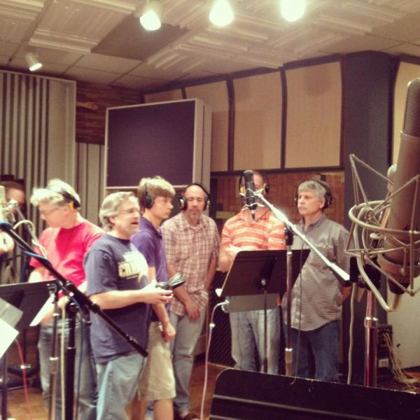 Recording with the Vocal Jazz group, The New Collection at Crystal Clear Studios-Dallas,Tx