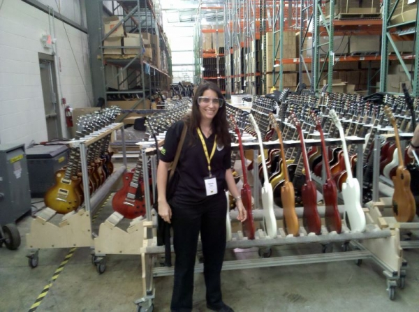 At the Gibson guitar factory in Nashville.