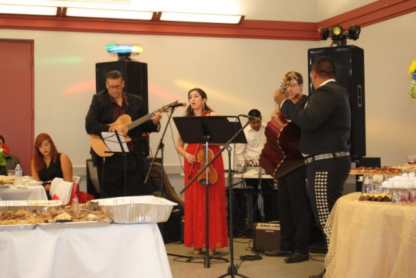 Mariachi performance at a Graduation Party.