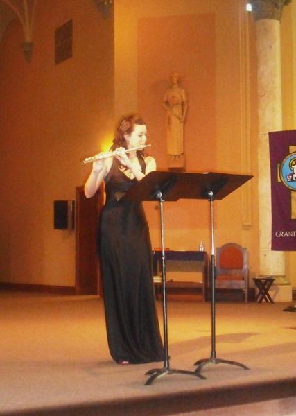 "Playing ""Concertino"" by Cecile Chaminade at my senior recital."