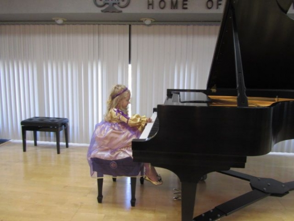 Julia G. (3 year & 10 month old) played at Masquerade Recital of