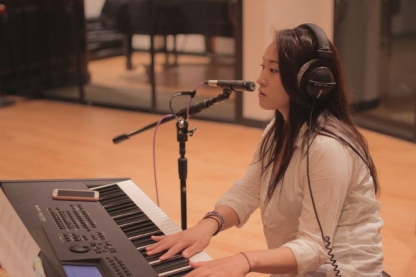 Studio session in Berklee College of Music