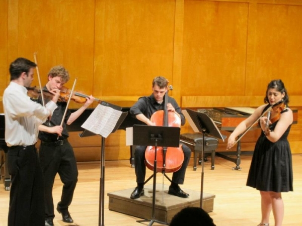 Here I am playing Bartok's String Quartet No. 2 with my undergraduate quartet at Stony Brook University.