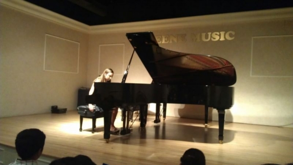 Performing Chopin's Nocturne In Eb Major Opus 9, No. 2 at Greene Music.