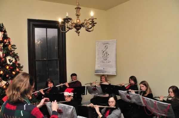 Shimmer Flute Choir at Candlelight Tours, December 2013