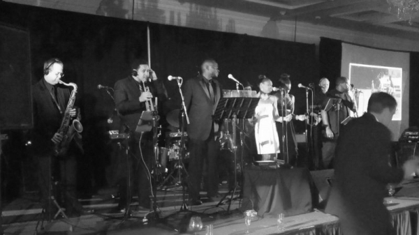 Performing with one of my bands: Chicago Catz