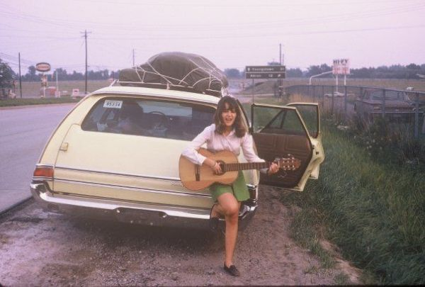 My guitar-playing days.  Driving from NY to New Mexico after arriving from our final missionary term in Paraguay, SA.  Aug. 1970.  Age 15.