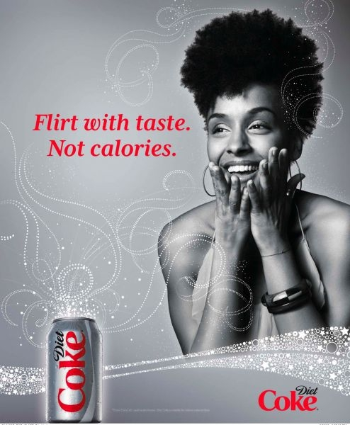 My first international ad for Diet Coke!