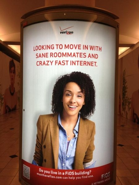 Being a Friendly Face for Verizon Fios...