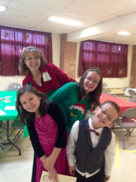 Having fun at the reception following the Christmas Recital! #valeriebaileymusic