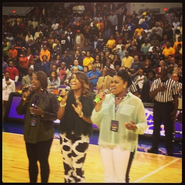 Singing for MEAC Tournament 2013 @ Norfolk Scope