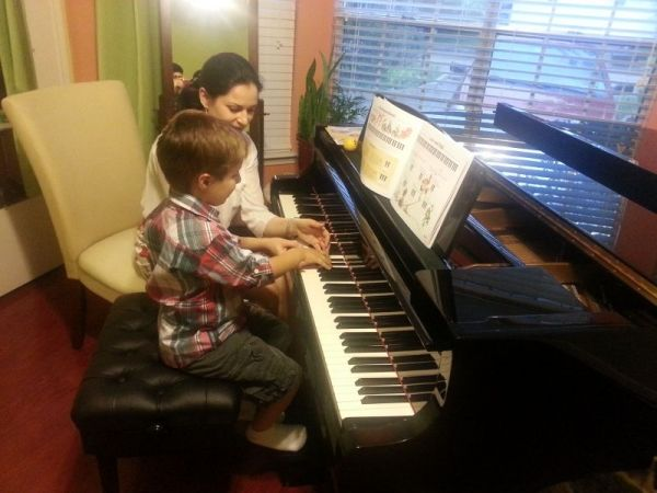 First piano adventures in our studio