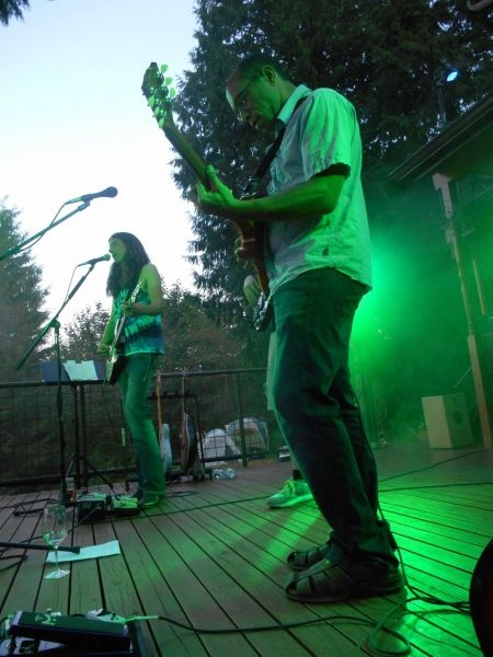 On stage with Ken Downie, host of 2014 Rose Valley (private) Music Festival