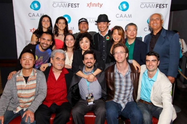 Cast of award winning film East Side Sushi with Director (center) at CAAMFEST, San Francisco