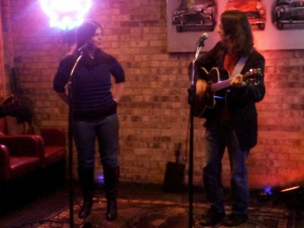 Performing with a student at a local open mic...when recitals aren't to be had XD