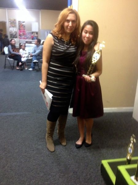 With one of my students at our annual Winter Gala Concert.