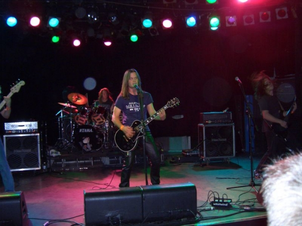 "With my old Heavy Metal Band ""Eradicate"" at The Roxy in 2005"