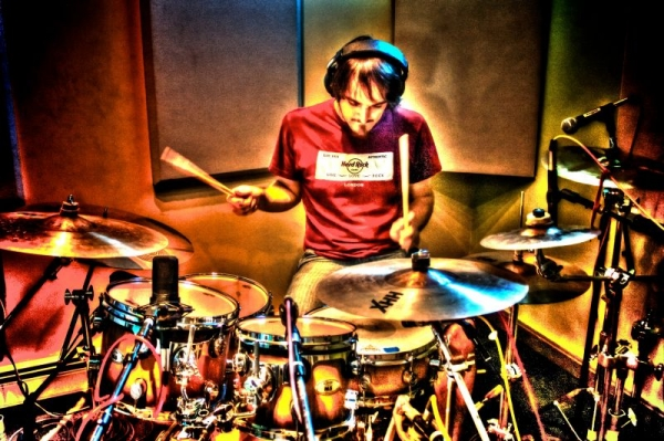 Recording drums for Onna Lou - 2013